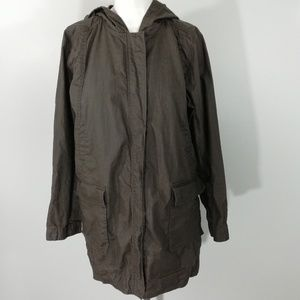 Eileen Fisher Waxed Linen Utility Jacket Size PM